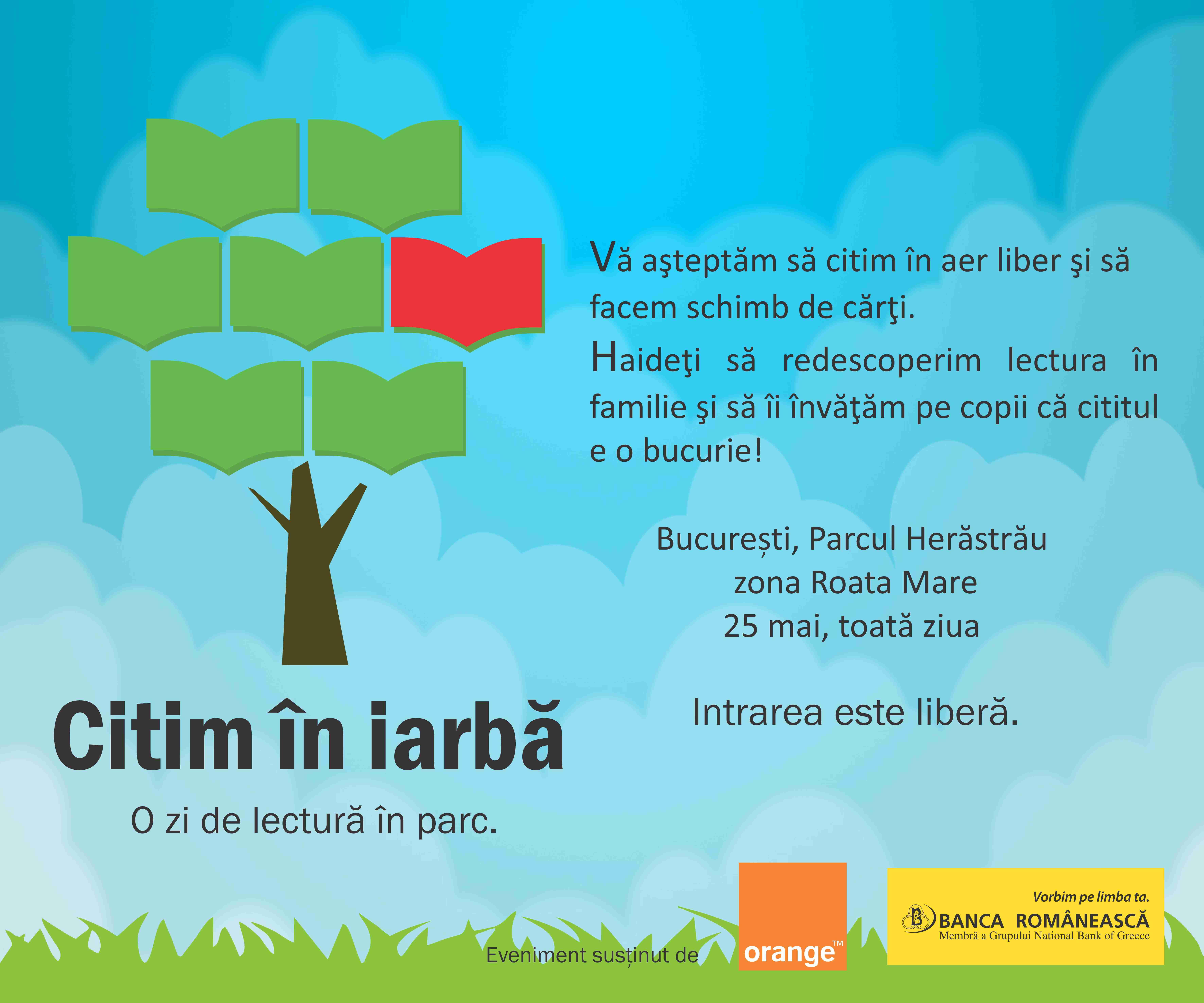Haideti sa citim in iarba!