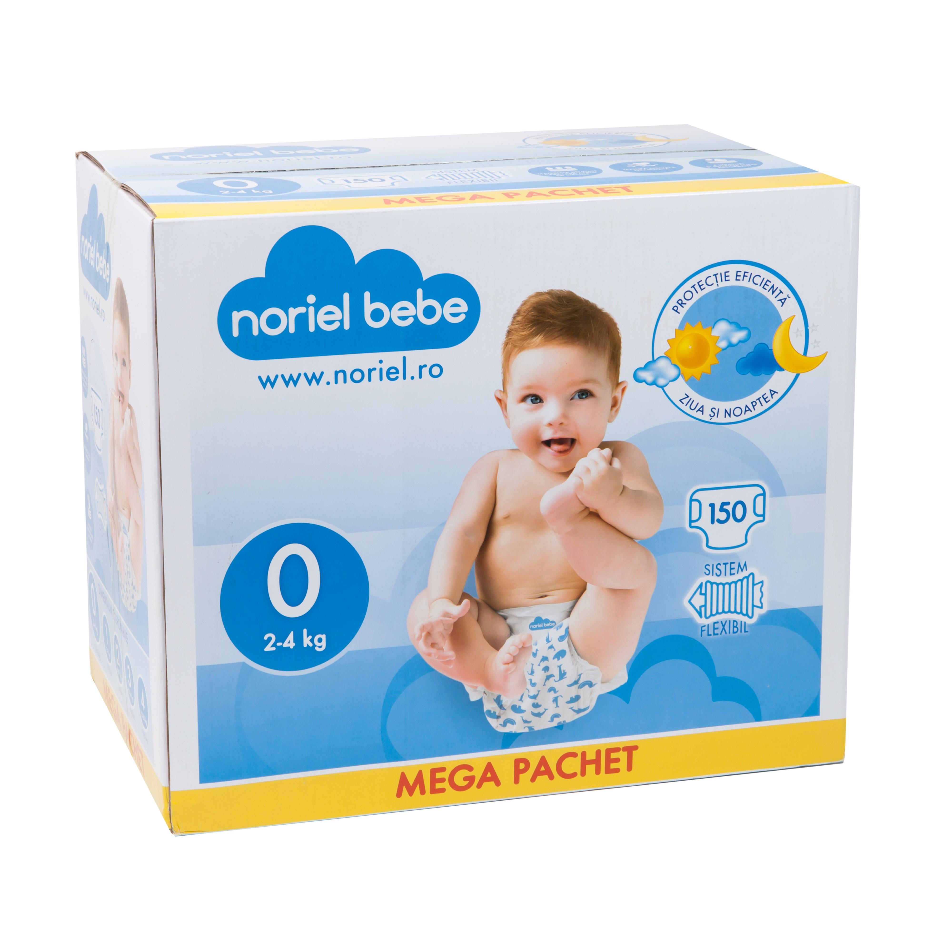 scutece-noriel-bebe-mega-pachet-marimea-0-150-buc-2-4-kg