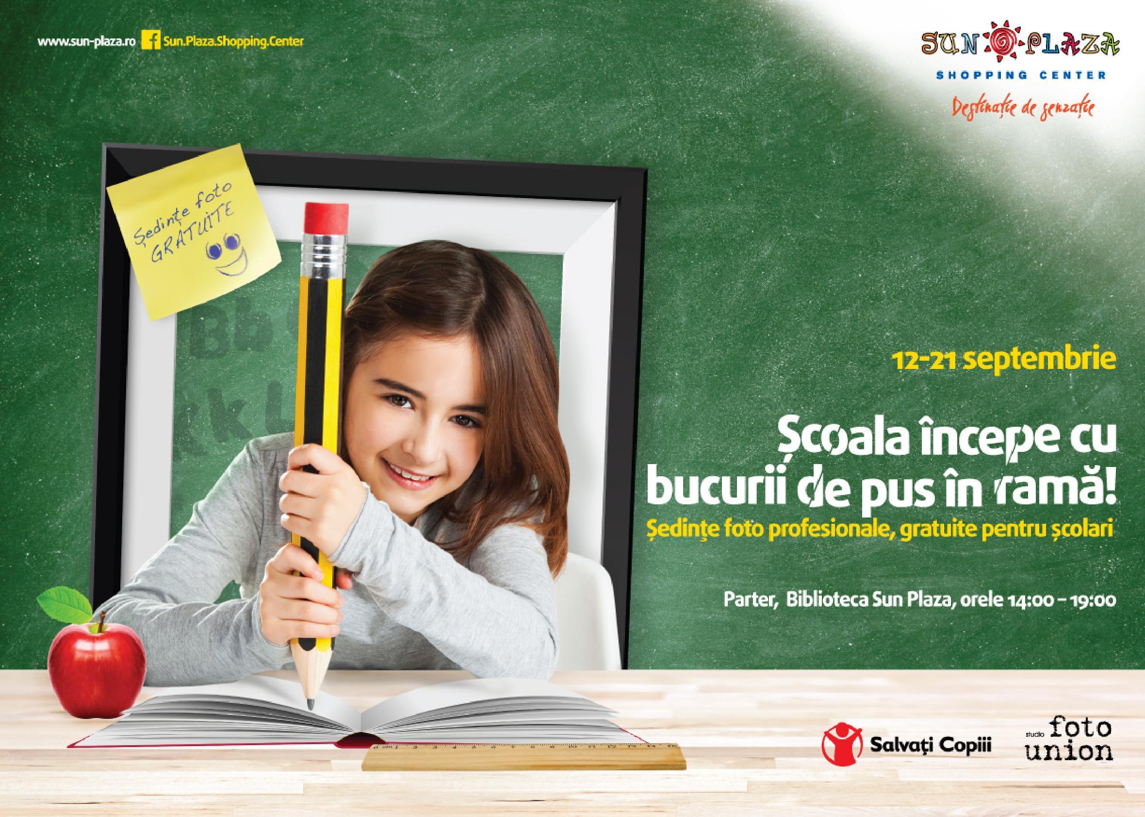Portret de scolar in Sun Plaza