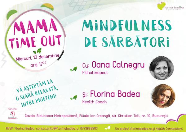 Mindfulness de sărbători la Mama Time Out – ediția a III-a