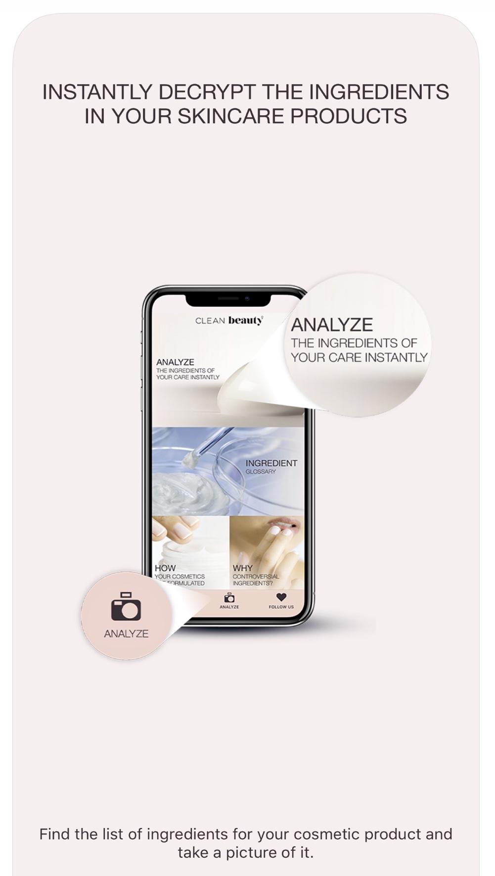 aplicații scanează cosmetice