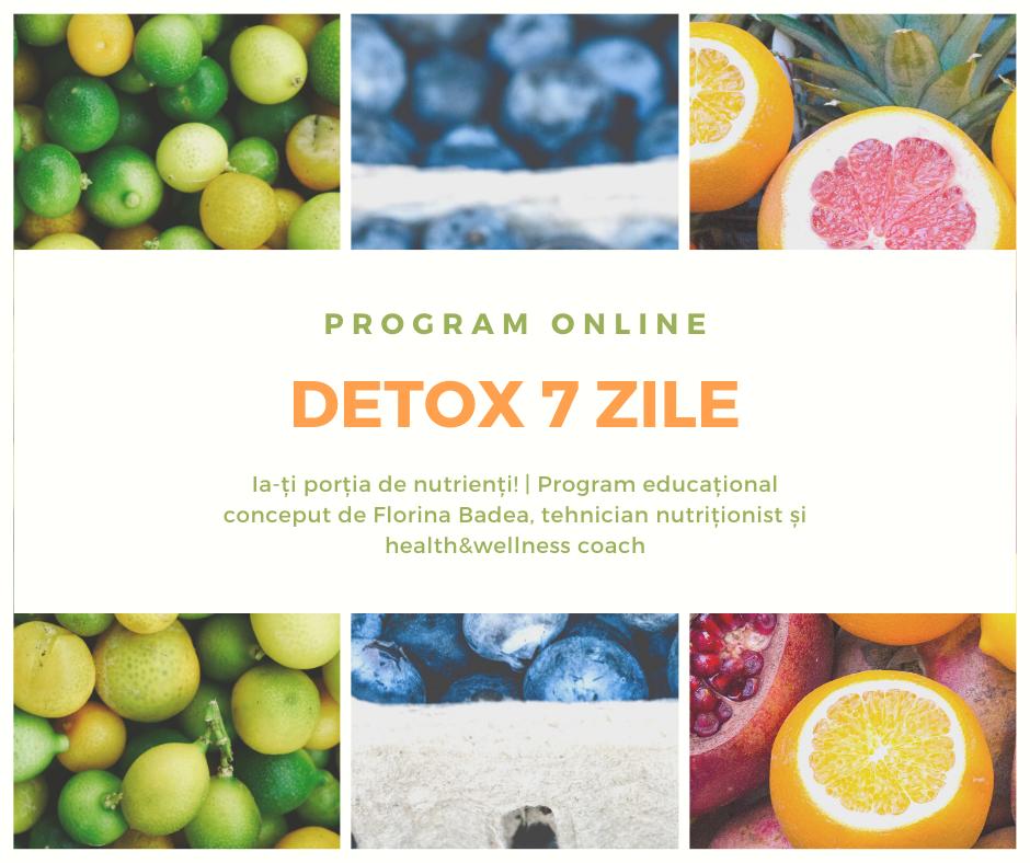 Detox 7 zile – program online